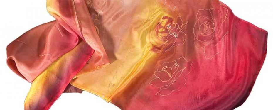 Curso de pintura sobre seda Sabadel Barcelona