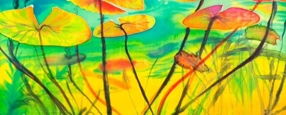 Curso de pintura sobre seda en Sabadell Barcelona